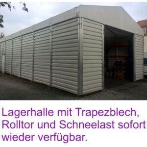 Lagerhalle mit Trapezblech 7,5 m x 20,0 m