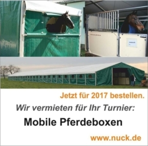 Mobile Pferdeboxen aufgestockt.