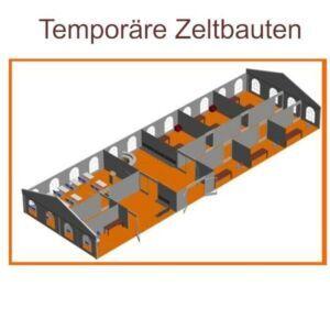 Temporäre Zeltbauten - mobile Raumlösungen