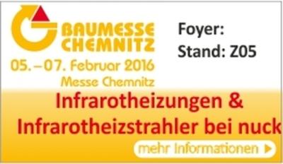 nuck mit Infrarotheizungen auf der Baumesse in Chemnitz
