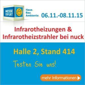 Infrarotheizungen und Strahler zum testen in Erfurt.