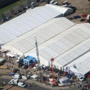 Unterkunftszelte und Lagerzelte ab 15 m Breite ohne Schneelast wieder lieferbar!
